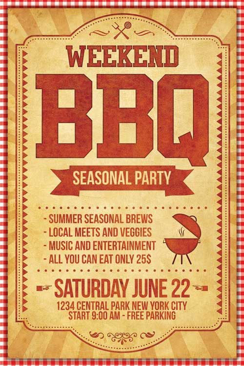 Bbq Flyer Template Psd - Xtremeflyers