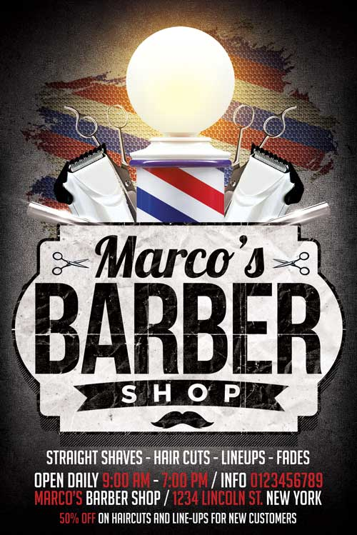 Vintage Barbershop Flyer Template