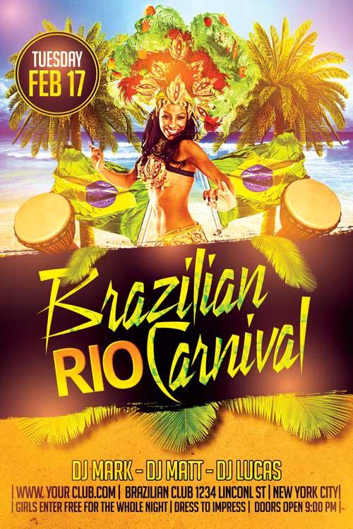 Brazilian Mardi Gras Flyer