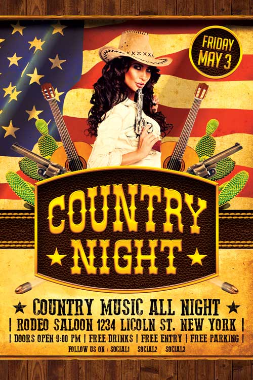 Country Flyer Template