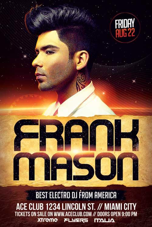 Mars DJ Flyer Template