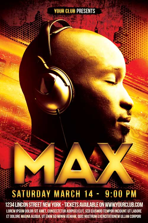 Max DJ Flyer Template