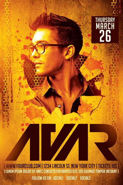 Avar DJ Flyer Template
