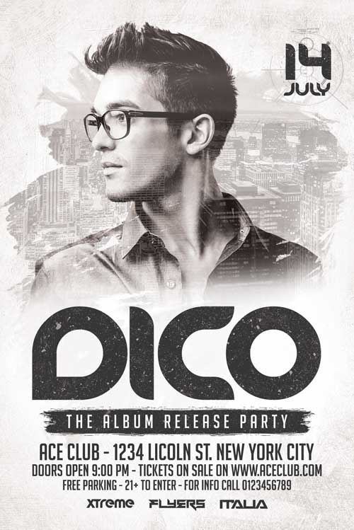 Dico Club DJ Flyer Template