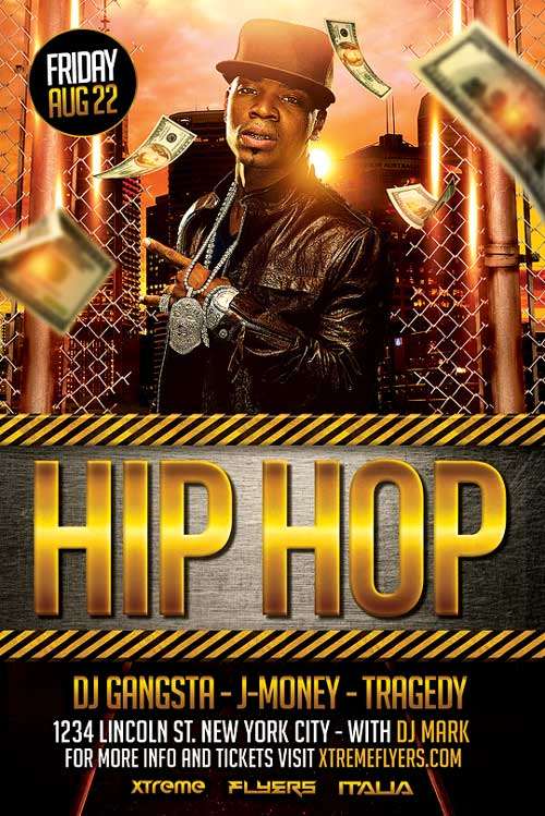 hip hop flyer template psd download best flyer templates