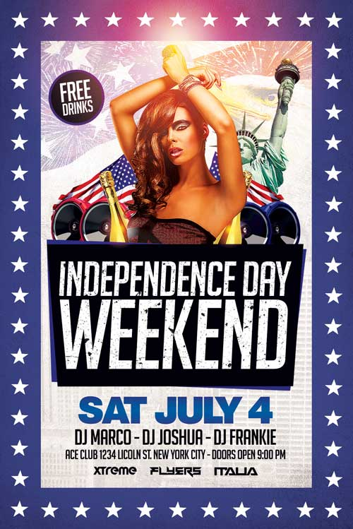 Fourth Of July Flyer Template Psd Download  Xtremeflyers