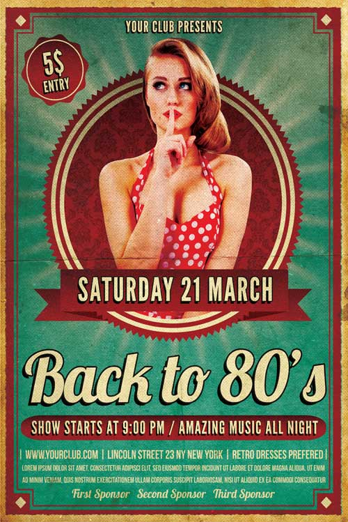 Retro Flyer Template Psd Download  Xtremeflyers