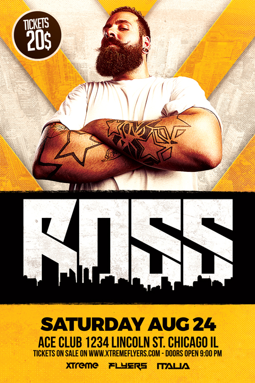 Ross Club DJ Flyer Template