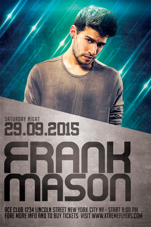 Frank DJ Flyer Template PSD