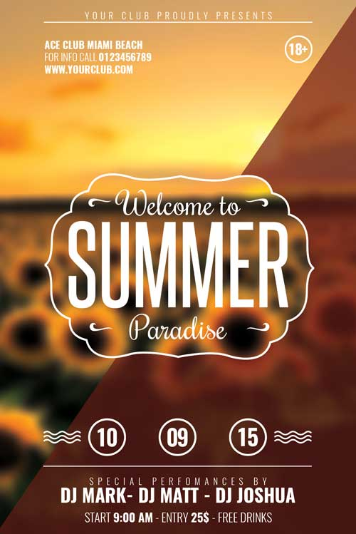 free summer flyer template download xtremeflyers