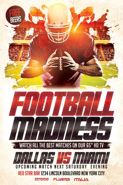 Football Flyer Template Psd Download - Xtremeflyers