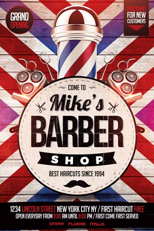 Barbershop Flyer Template Psd Download Xtremeflyers