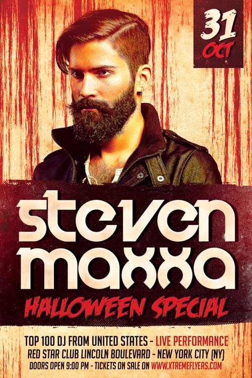 Free Halloween DJ Flyer Template