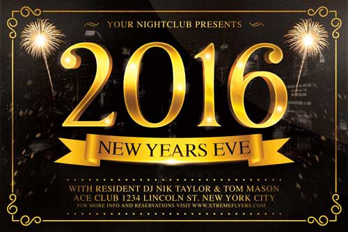 New Years Eve Flyer Template - Xtremeflyers