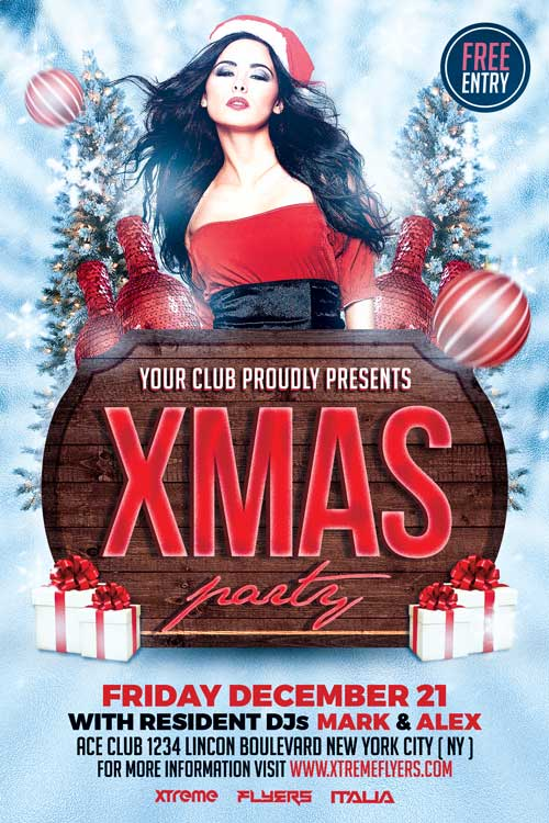Xmas Flyer Template Psd Download Xtremeflyers