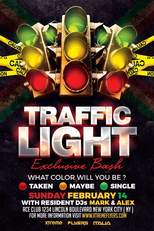 Traffic Light Flyer Template Xtremeflyers