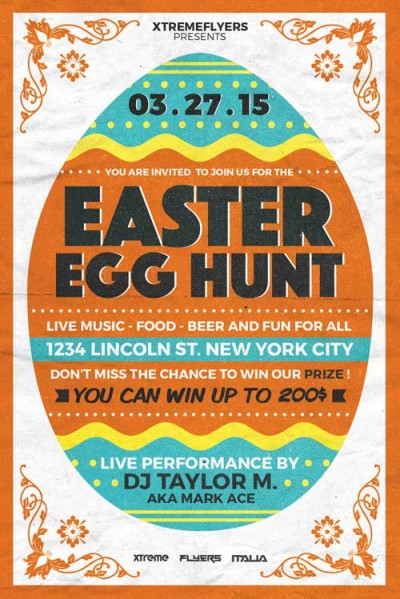 Easter Egg Hunt Flyer Template