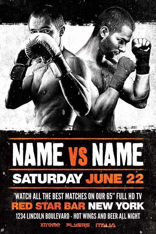 FREE Boxing Flyer Template