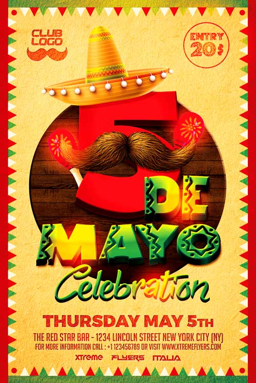 5 de mayo flyer template psd download xtremeflyers