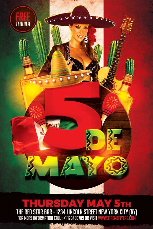 cinco de mayo flyer template psd download xtremeflyers