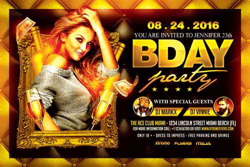 Bday Party Flyer Template - XtremeFlyers