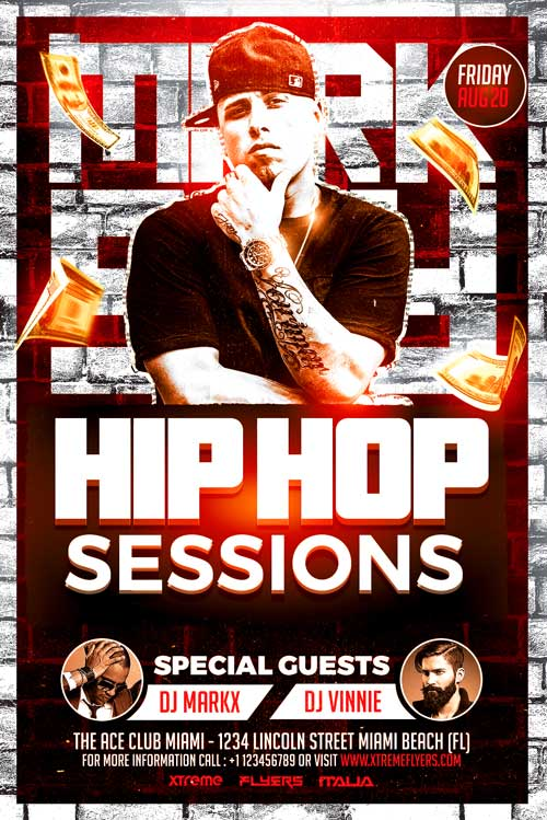 Hip Hop Artist Flyer Template Xtremeflyers