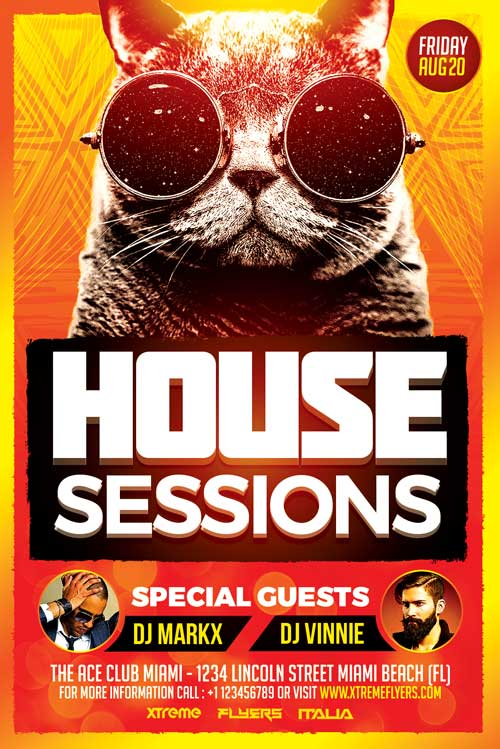 House Sessions Flyer Template