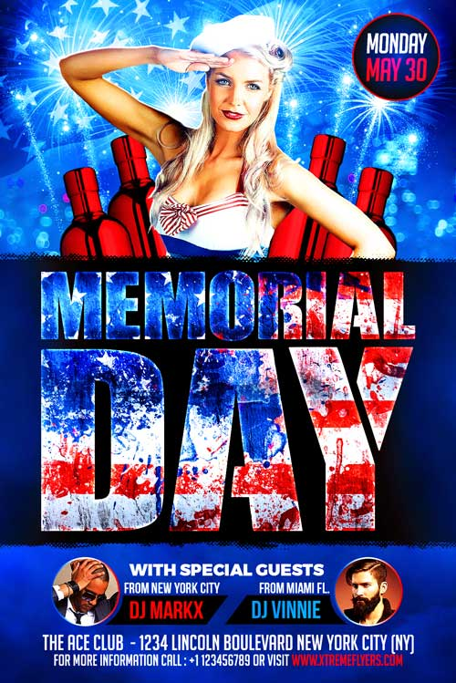 Memorial Day Flyer Template  Xtremeflyers