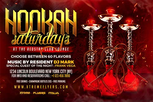 Hookah Lounge Flyer Template - Xtremeflyers