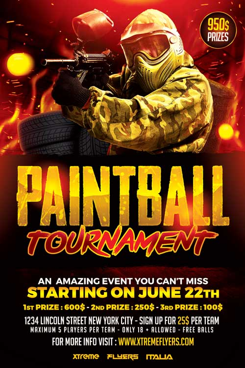 Paintball Flyer Template