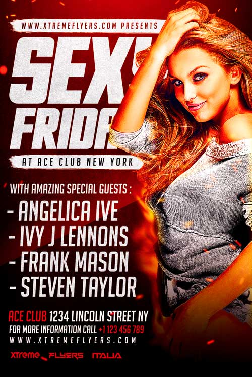 Sexy Fridays Flyer Template