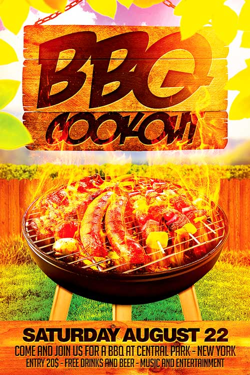 Bbq Cookout Flyer Template  Xtremeflyers