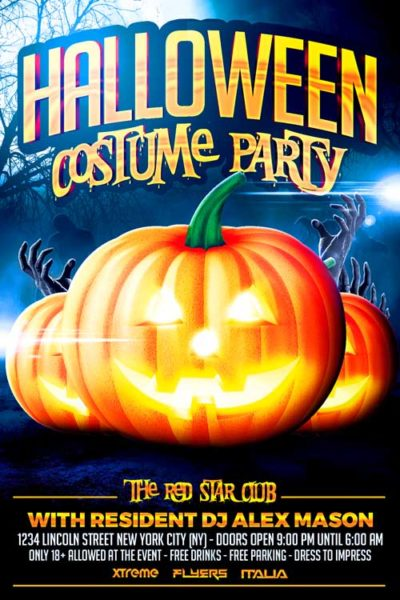 Halloween Costume Party Flyer Template