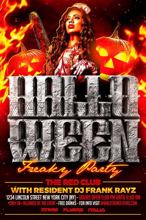 FREE Halloween Flyer Template Download XtremeFlyers - Free halloween flyer templates