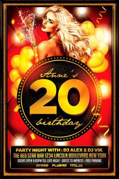 Birthday Bash Flyer PSD
