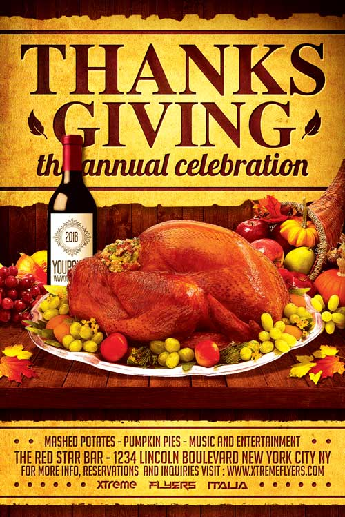 Thanksgiving Celebration Flyer Template