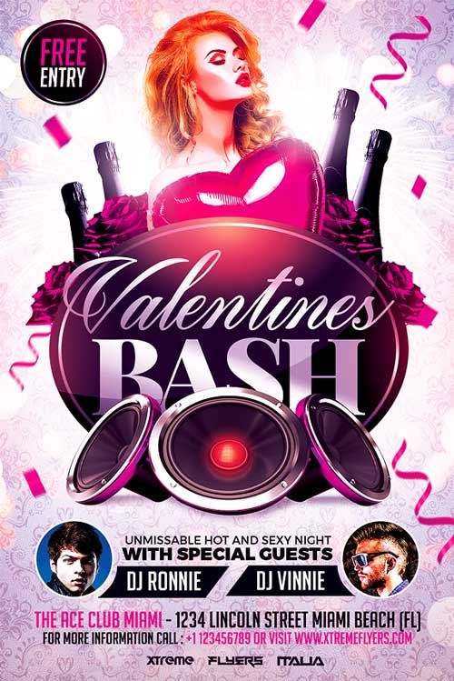 Valentines Day Flyer PSD