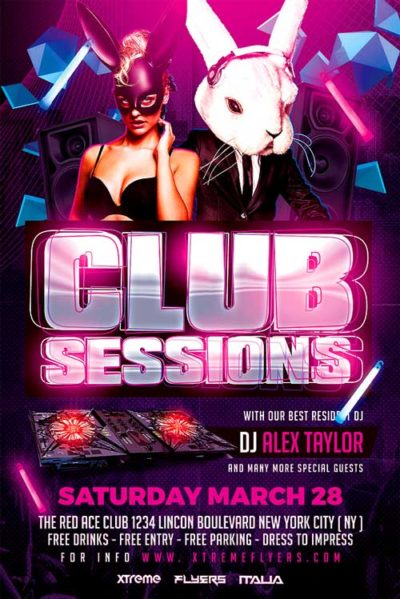 Club Sessions Flyer Template