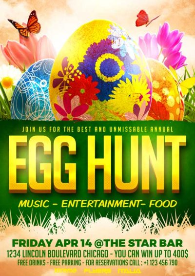 Egg Hunt PSD Flyer Template