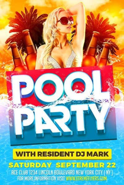 Summer Pool Party PSD Flyer Template