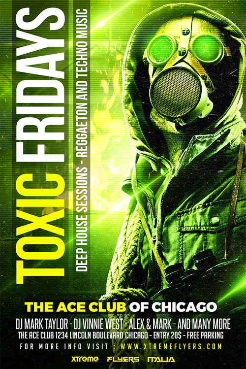 Toxic Fridays Flyer Template