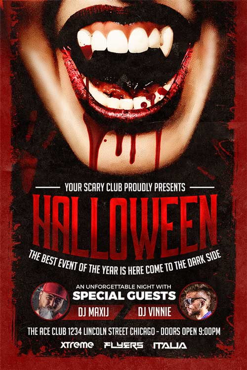 halloween party flyer template download xtremeflyers. Black Bedroom Furniture Sets. Home Design Ideas