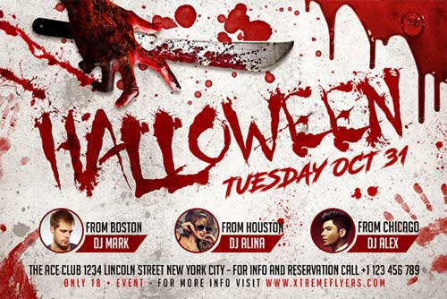 Halloween Horizontal Flyer Template