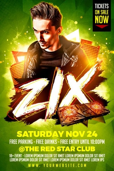 Zix DJ Flyer Template