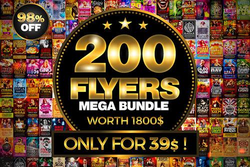 200 Flyers Bundle Download
