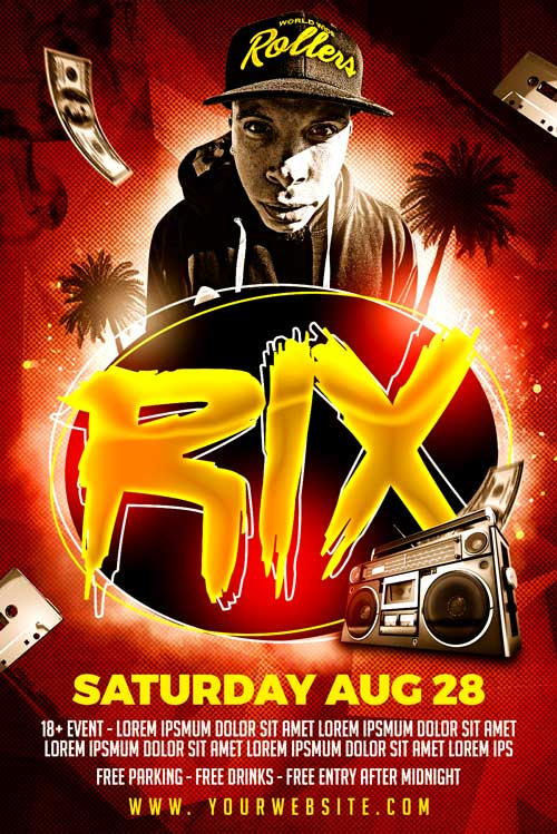 Rix Rap Artist Flyer Template