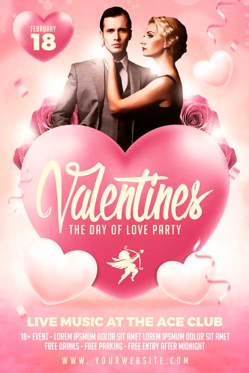Valentines Day 2018 Flyer Template