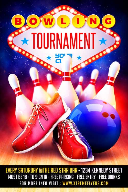 Bowling Flyer Template Download  Xtremeflyers