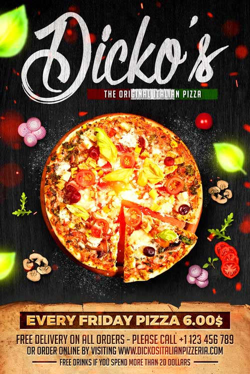 Pizza Menu Flyer Template Download  Xtremeflyers