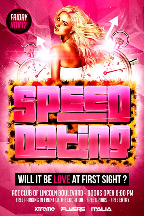 Speed Dating Flyer Template